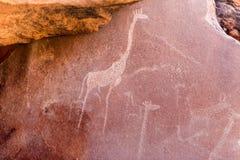 Sławni prehistoryczni rockowi rytownictwa Zdjęcia Royalty Free