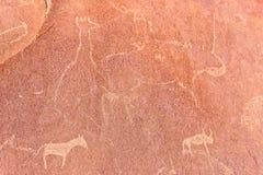 Sławni prehistoryczni rockowi rytownictwa Zdjęcie Royalty Free