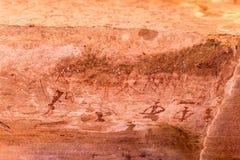 Sławni prehistoryczni rockowi rytownictwa Zdjęcia Stock