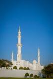 Sławny Abu Dhabi Sheikh Zayed meczet Zdjęcie Royalty Free