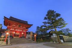 Sławny Fushimi Inari-taisha w Kyoto Zdjęcie Stock