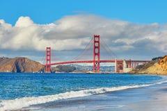 Sławny Golden Gate Bridge w San Fransisco, usa Obrazy Stock