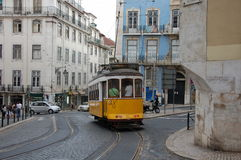 Sławny Lisbon tramwaj Fotografia Stock