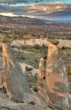 Sławny miasto Cappadocia w Turcja Obraz Stock