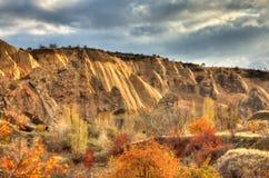 Sławny miasto Cappadocia w Turcja Zdjęcia Stock