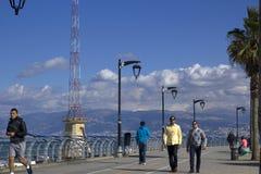 Sławny nadmorski Corniche, Bejrut, Liban Zdjęcie Royalty Free