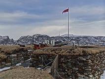 Sławny nyholmen sconce w Bodo w zimie Zdjęcie Royalty Free