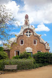 Sławny punkt zwrotny - Parkowy Guell w Barcelona, Hiszpania, Europa Obraz Stock