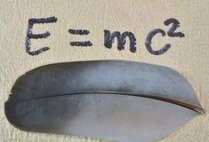 Sławny równanie w physics Obrazy Royalty Free