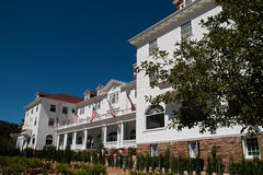 Sławny Stanley hotel w Estes parku, Kolorado Zdjęcia Royalty Free