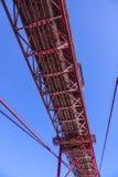 Sławny 25th Kwietnia most nad Rzecznym Tajo w Lisbon Salazar aka moscie Obraz Royalty Free