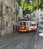 Sławny tramwaj w lissabon Zdjęcia Royalty Free