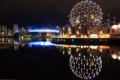 Sławny w centrum Vancouver przy zmierzchem Fotografia Royalty Free