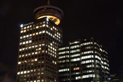 Sławny w centrum Vancouver przy zmierzchem Fotografia Stock