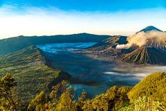 Sławny widok góry bromo od widoku punktu Obraz Royalty Free