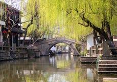 Sławny wodny miasto - Zhouzhuang Fotografia Royalty Free