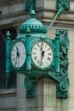 Sławny zegar w W centrum Chicago na State Street, usa Fotografia Stock