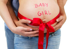 It's a baby girl! Royalty Free Stock Image