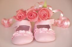 It's a baby girl ! Royalty Free Stock Photo