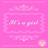 It's a Baby Girl Card Royalty Free Stock Images