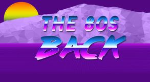 The 80s are back illustration and wallpaper. The 80s are back modern and colorful illustration and wallpapern Stock Images