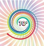 70s background with abstract colorful swirly. Design illustration vector illustration