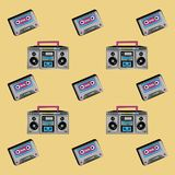 90s background icons. Icon vector illustration graphic Royalty Free Illustration