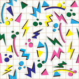 80s background. Vector illustration of 80s seamless background stock illustration