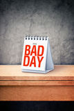 It's a bad day printed on desk calendar at office table Stock Images