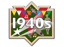 1940s badge / icon Stock Photography