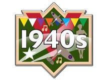 1940s badge / icon. Fridge magnet / badge style 1940s emblem stock illustration