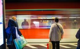 S-Bahn在法兰克福 免版税库存照片