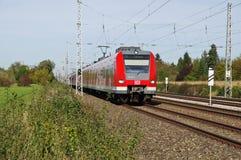 S-Bahn av Munich, Tyskland royaltyfri fotografi