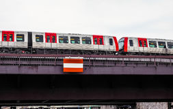 S Bahn (S Train) in Hamburg hdr Royalty Free Stock Image