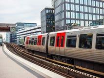 S Bahn (S Train) in Hamburg hdr Royalty Free Stock Photo