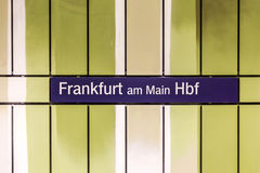 S-Bahn Sign Frankfurt am Main Royalty Free Stock Photos