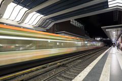 S-Bahn station in Berlin underground tube. Royalty Free Stock Photo