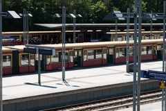 S-Bahn trains at  train station in Berlin Stock Images