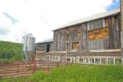 1800's barn full of hay, Woodstock Vermont stock photography