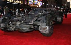 ` S Batmobile de League de la justicia Fotografía de archivo
