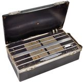 1950's battery portable valve radio receiver Royalty Free Stock Photography
