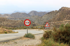 S-bend in the Andalusian mountains, Spain Royalty Free Stock Photo