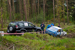 S. Benskin off road on Ford Escort Stock Photography