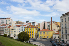 S. Bento area, near the Portuguese Parliament, in Lisbon Royalty Free Stock Photography