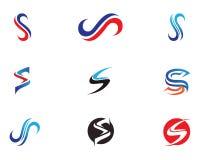 S beschriftet Logo- und Symbolikonen Lizenzfreies Stockbild