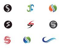 S beschriftet Logo- und Symbolikonen Lizenzfreie Stockfotografie