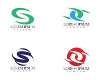 S beschriftet Logo- und Symbolvektorschablone Lizenzfreie Stockfotografie