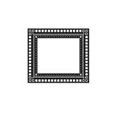 Black and white frame. Its black and white frame with an abstract pattern of geometric shapes Stock Image