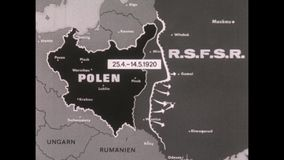 1910s black and white world war one map stock footage