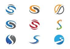 S-bokstavs- och s-logo Royaltyfri Bild